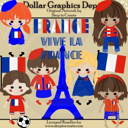 French Dolls - Clip Art