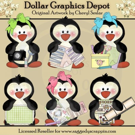 Scrapbook Penguins - *DGD Exclusive*
