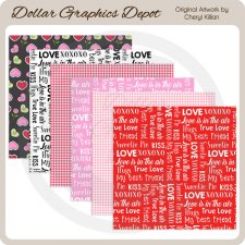 Sweet Love - Scrap Papers