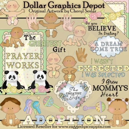 The Gift of Adoption - Clip Art