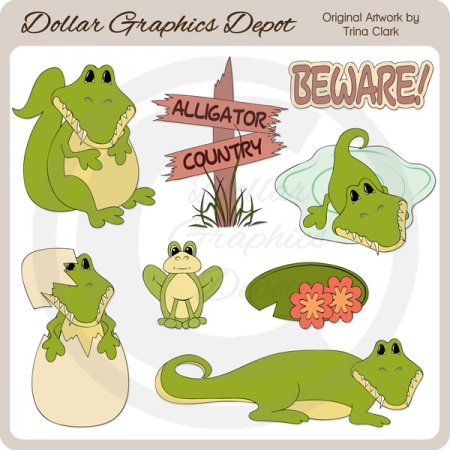 Alligator Country - Clip Art
