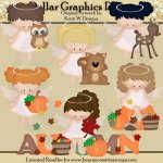 Autumn Woodland Angels - Clip Art - *DGD Exclusive*