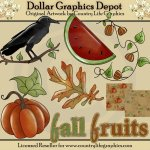 Fall Fruits - Clip Art