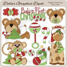 Baby's First Christmas - Boys - Clip Art