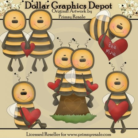 Bee Mine - Clip Art
