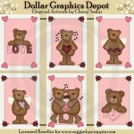 Valentine Bear Cards - Printables