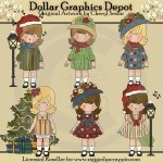 Christmas with Gracie - Clip Art - *DGD Exclusive*