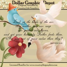 God's Birds - Clip Art