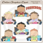Preschool Kids 1 - Clip Art - *DGD Exclusive*