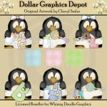 Baby Penguins - Clip Art