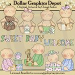 Welcome Sweet Baby - Clip Art - *DGD Exclusive*