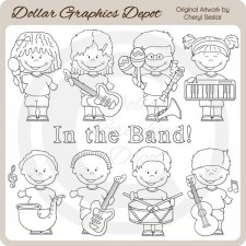 Band Kids - Digital Stamps