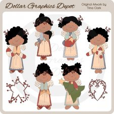 Christmas Angel Fancies 2 - Clip Art