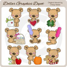 Little Bears - Calendar Helpers - *DGD Exclusive*