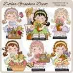 Sweet Sally - Flowers - Clip Art - *DGD Exclusive*