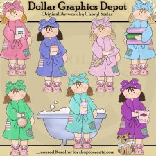 Bathrobe Betty - Bath and Body - Clip Art