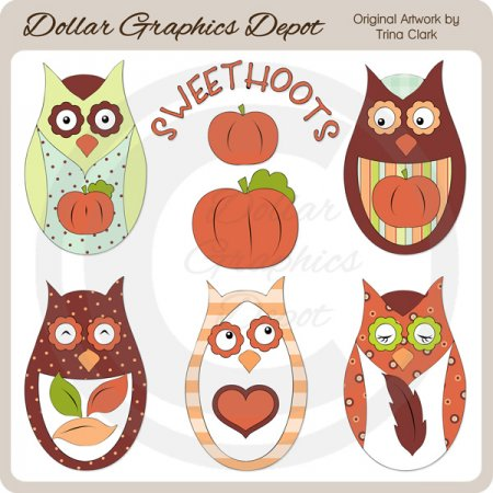 Autumn Sweethoots - Clip Art