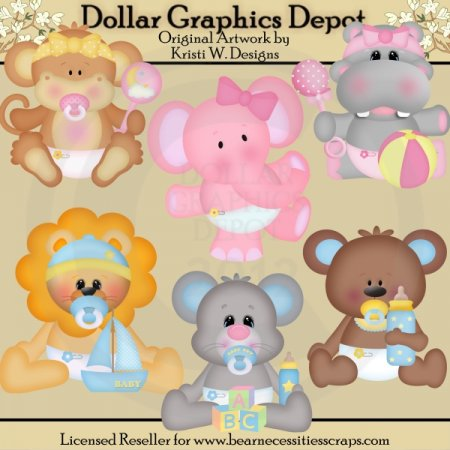 Baby Animals - Clip Art - *DCS Exclusive*
