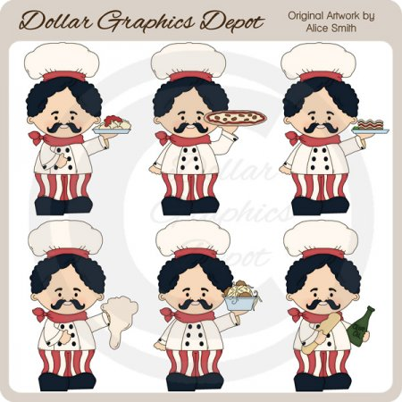 Giuseppe The Chef - Clip Art - *DGD Exclusive*