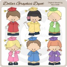 Kindergarten Graduation - Clip Art - *DGD Exclusive*