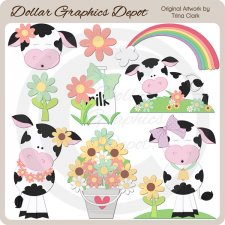 Summer Cows - Clip Art