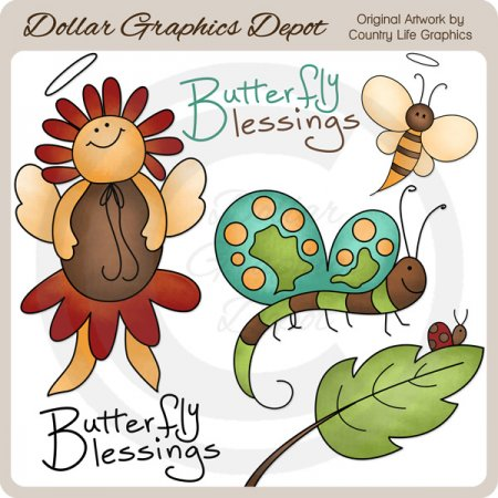 Butterfly Blessings - Clip Art