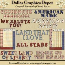 Americana Word Art - *DCS Exclusive*