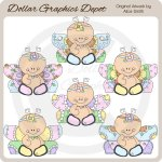 Floral Butterflies - Clip Art - *DGD Exclusive*