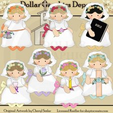 Pretty Brides - Christian Love - Clip Art