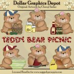 Boo Bears Teddy Bear Picnic - Clip Art