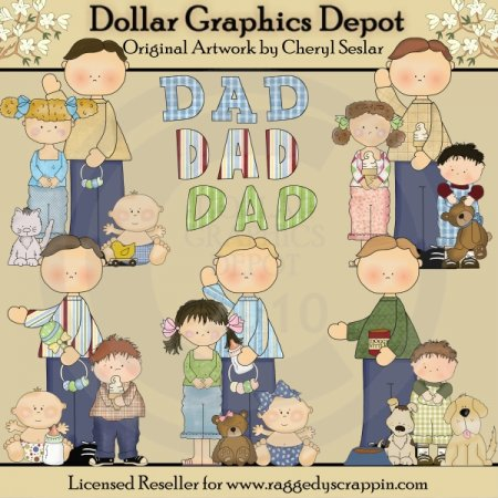 Busy Dads - Clip Art - *DGD Exclusive*