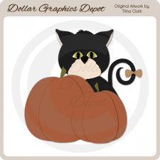 Autumn Kitty 1 - Cutting Files / Paper Piecing Patterns