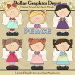 Peace Angels 1 - Clip Art