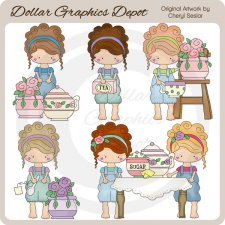 Olivia's Tea Party - Clip Art
