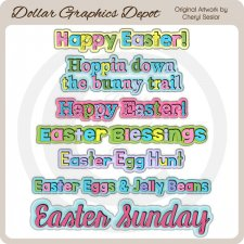 Sweet Easter Word Art