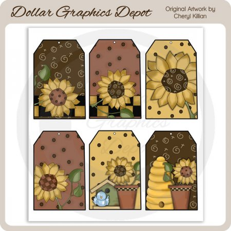 Sunflower - Sheet Tags