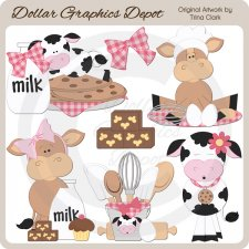Baking Cows 1 - Clip Art