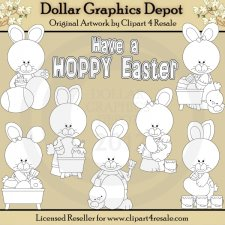 Hoppy Easter Bunnies - Digital Stamps - *DGD Exclusive*