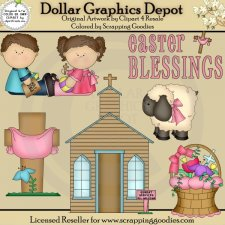 Easter Blessings - Clip Art