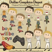 Boys Will Be Boys - Clip Art