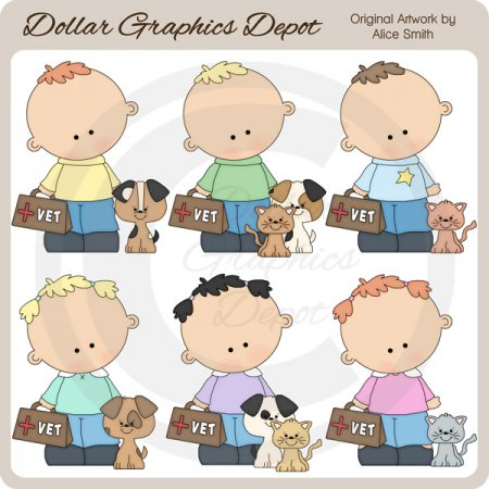Vet Kids 1 - Clip Art - *DGD Exclusive*