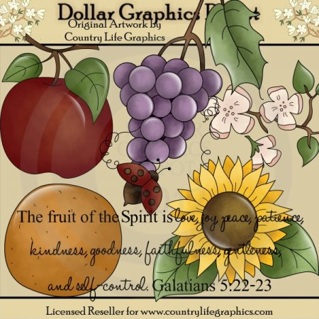 Fruit of The Spirit - Clip Art