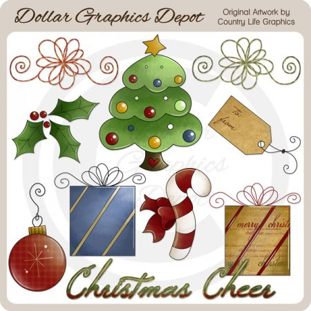 Christmas Cheer 2 - Clip Art