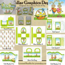 Easter Bunny Baskets and Bags - Printables