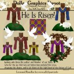 He Is Risen - Clip Art