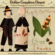 Early Settlers - Clip Art
