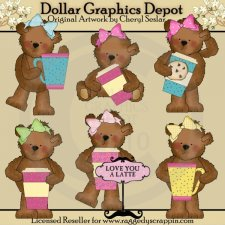 Tattered Teddies - Latte Bears