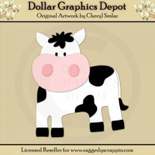 Farm 1 - Cow - Cutting Files / Paper Piecing Patterns