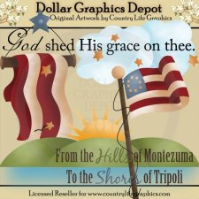 God Shed His Grace - Clip Art