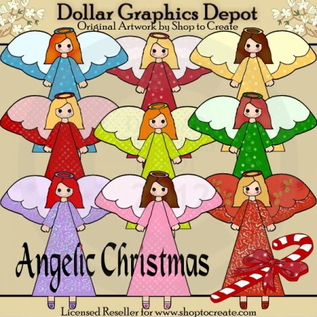Angelic Christmas - Clip Art